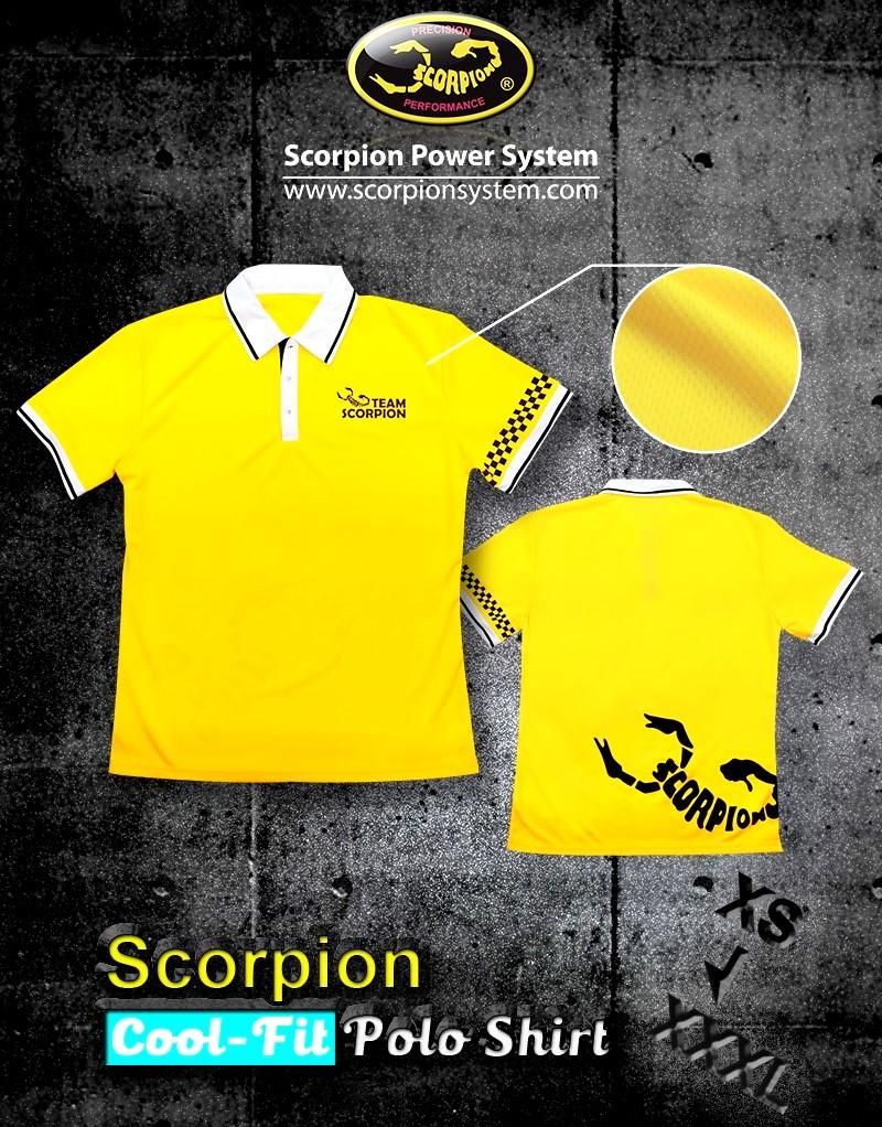 Scorpion Cool Fit Polo Shirt M World Of Heli