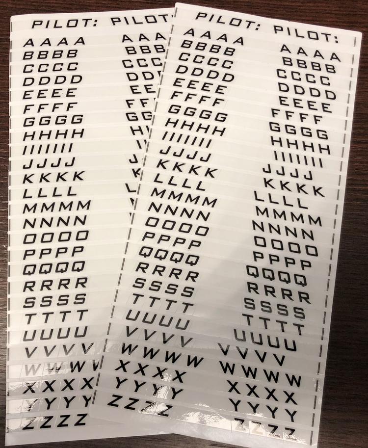 Sab Aufklebersatz Pilot Buchstaben Letter Sticker World Of Heli